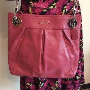 Coach Ashley Ginger Pink Leather Shoulder Bag NWT